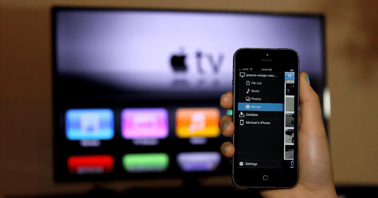 iPhone en tv
