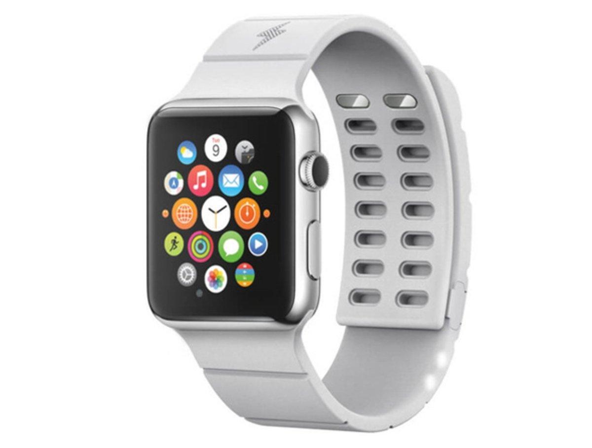 Aumenta la batería del Apple Watch hasta 30 horas con la correa Reserve Strap.