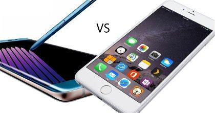 Samsung Galaxy Note7 vs Apple iPhone 6s Plus, pelea de titanes