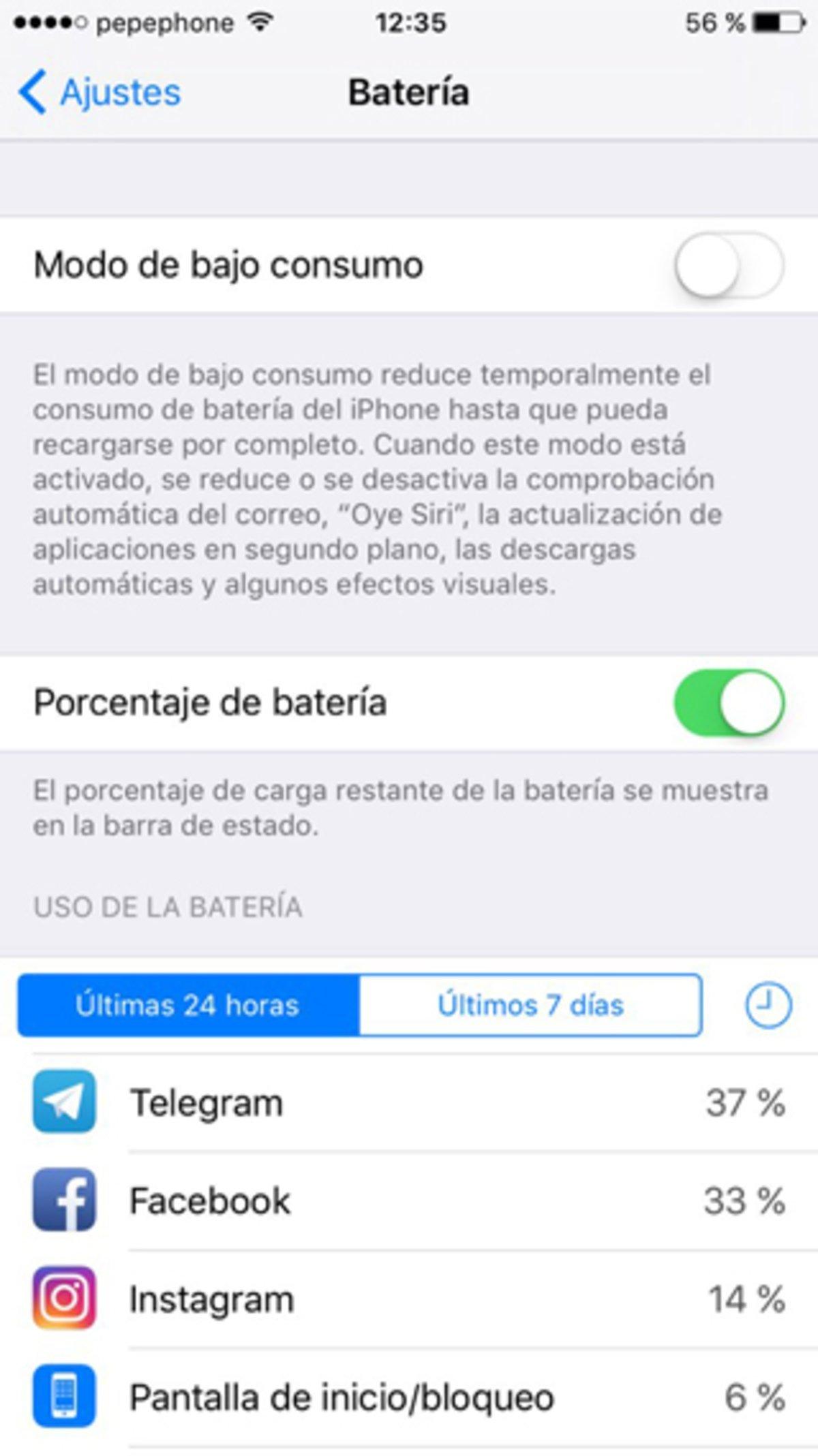 Ahorra batería en tu iPhone