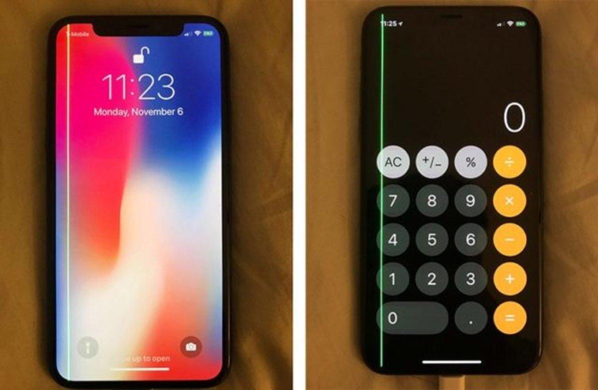 Por qué algunos iPhone X tienen una línea verde en la pantalla