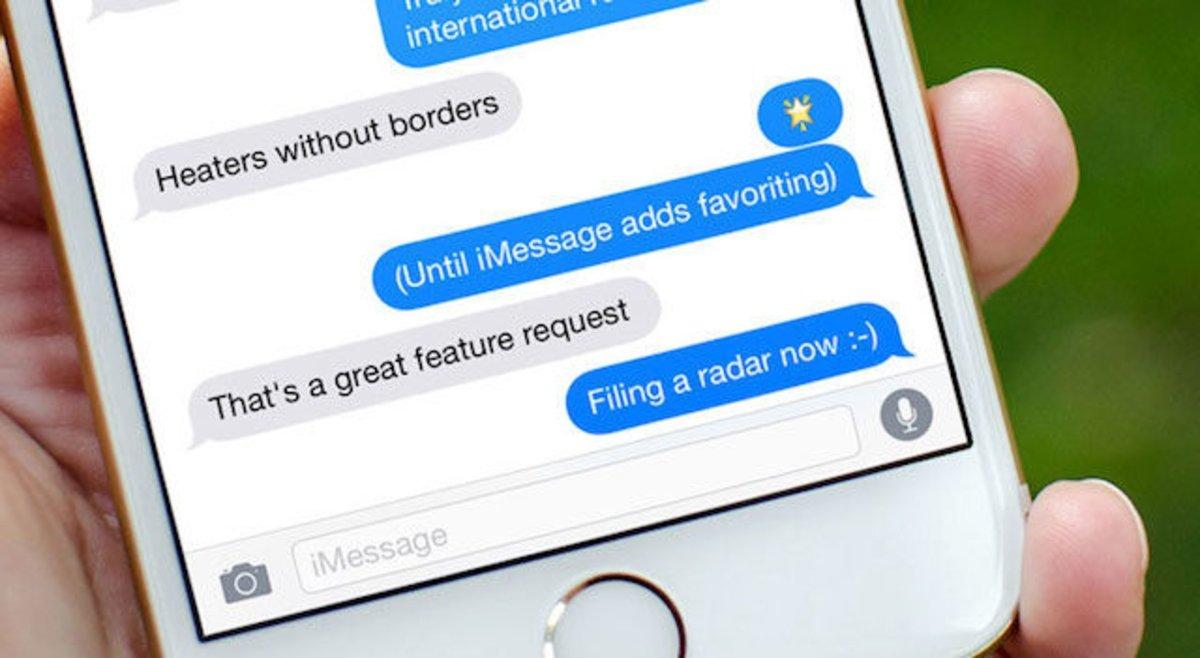 Espacio mensajes iPhone
