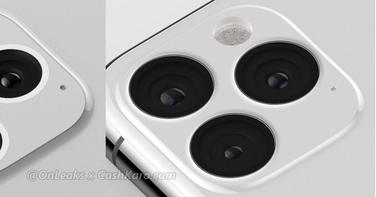 Así sería la triple cámara del iPhone XI, no es tan fea como parecía