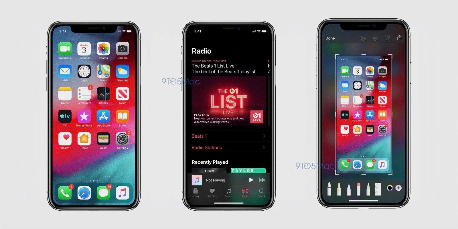 Se filtran las primeras imágenes de iOS 13 confirmando el modo oscuro