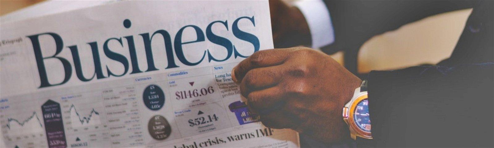 Periódico sección negocios