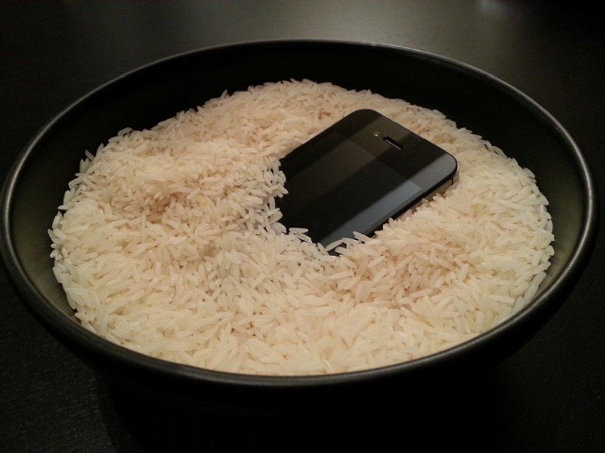 el arroz no sirve para recuperar un iPhone o iPad mojado