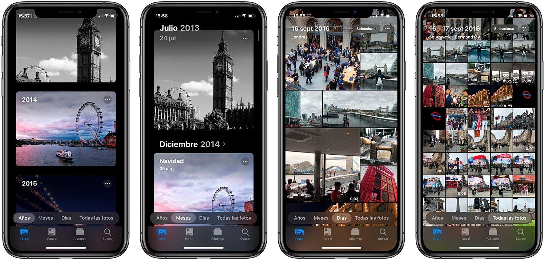 Todos los secretos de la app Fotos de iOS 13