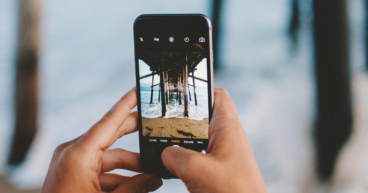 iPhone haciendo foto