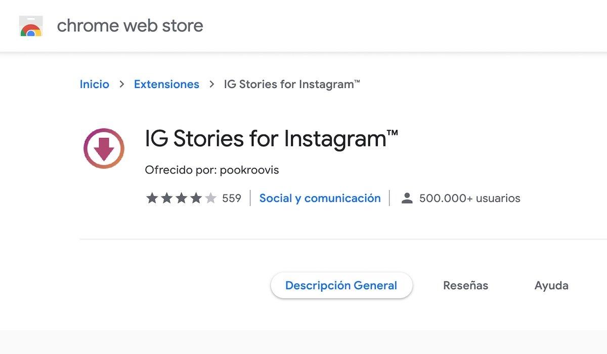 Instagram con stories en chrome