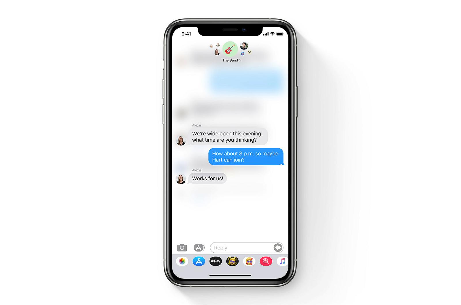 Respuestas Chats grupales mensajes