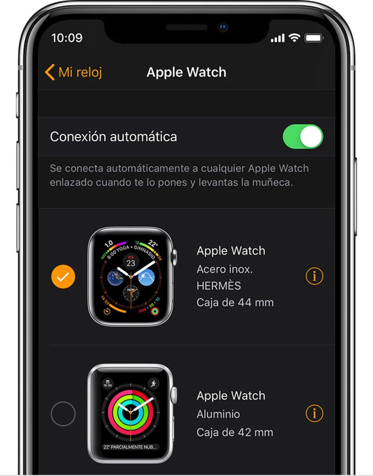 Desvincular Apple Watch iPhone 1