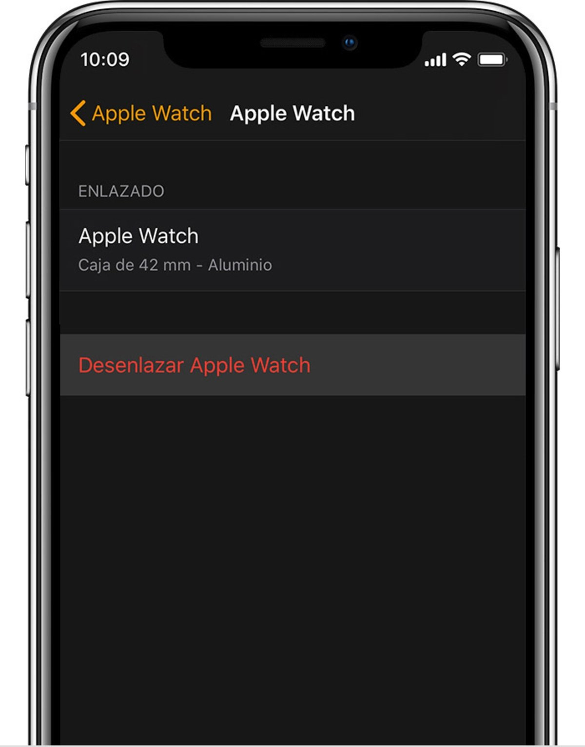Desvincular Apple Watch iPhone 2