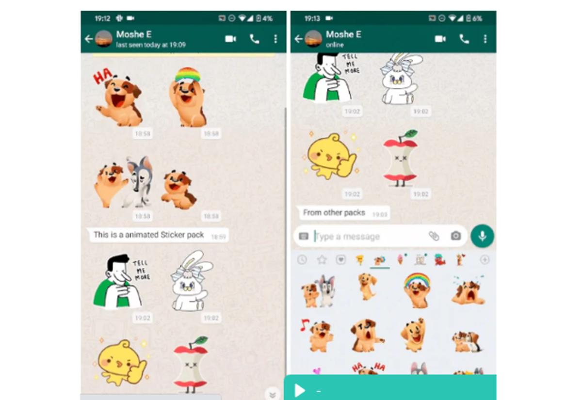Pegatinas animadas en WhatsApp