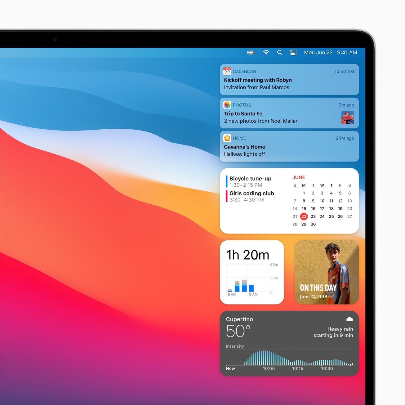macOS Big Sur Widgets