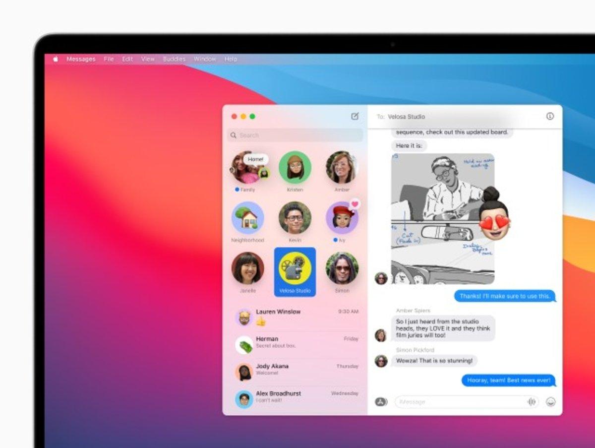 macOS Big Sur Mensajes