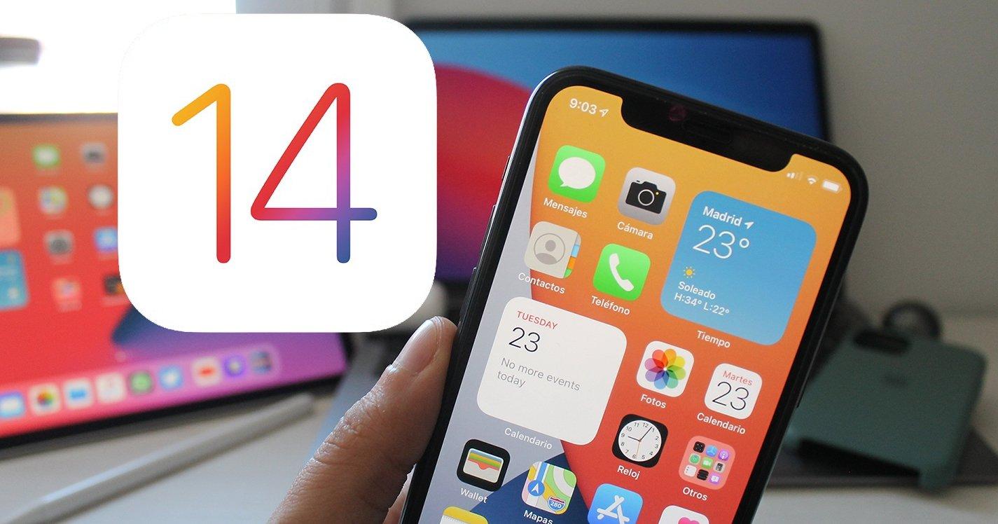 iOS 14 en iPhone