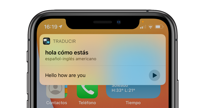 traductor Siri ios 14 iphone