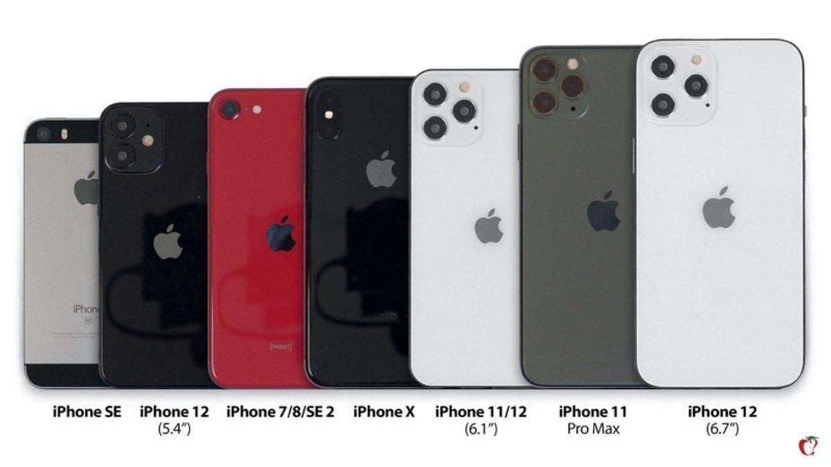 Comparación iPhone 12