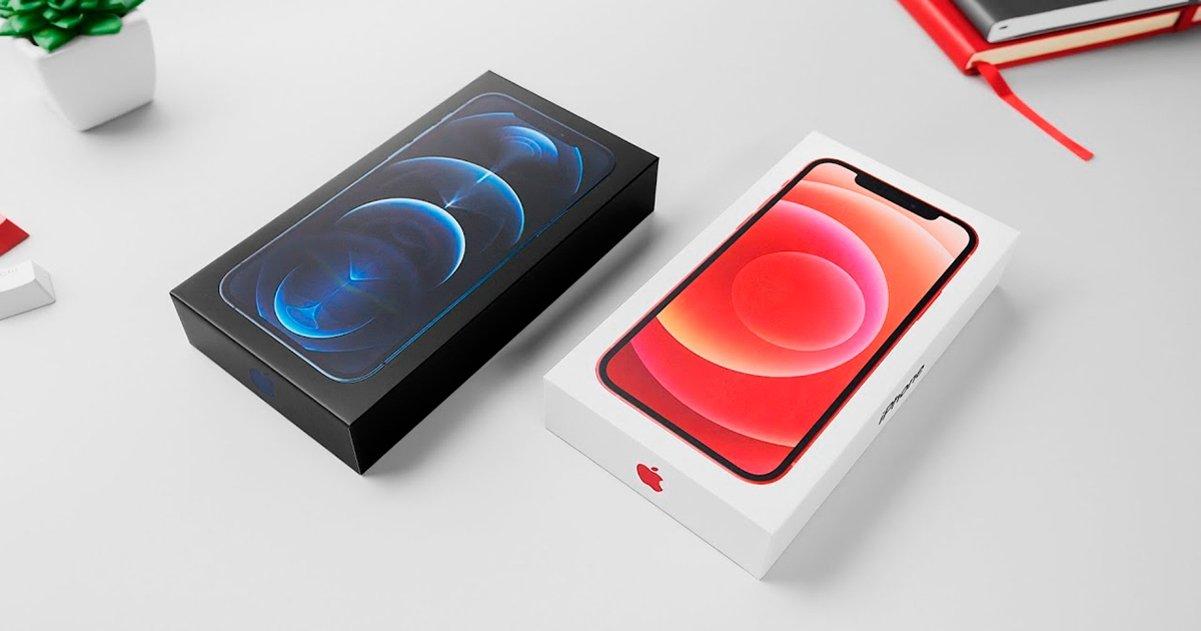 Cajas de los iPhone 12