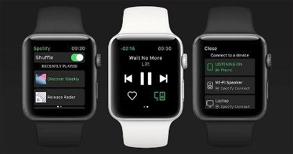 Spotify en el Apple Watch ya funciona sin el iPhone