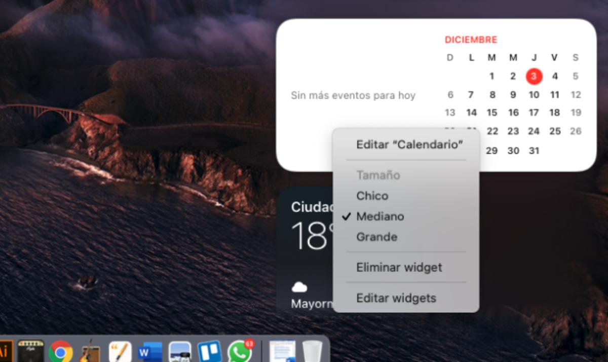 Trucos para widgets de Mac