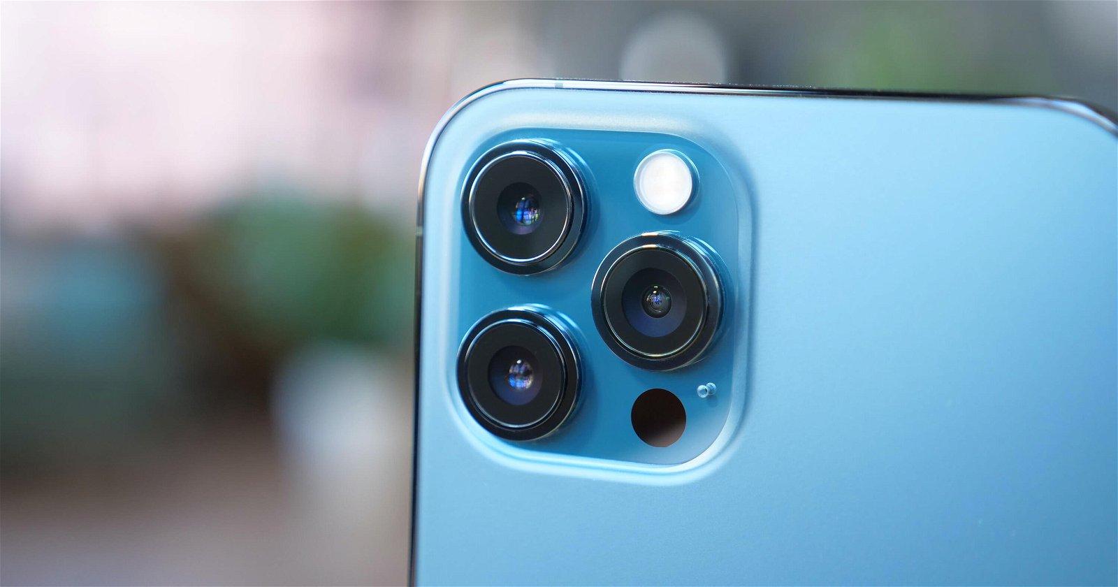 cámaras iPhone 12 Pro azul