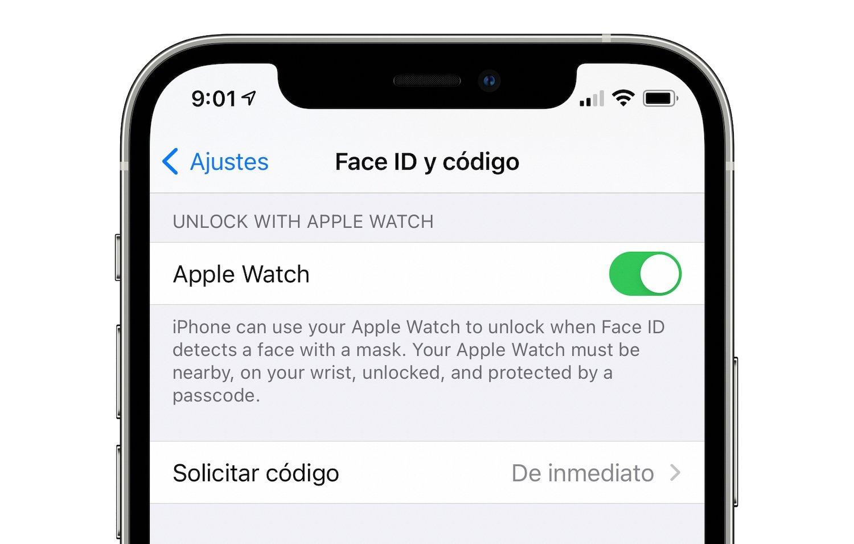 face id mascarilla apple watch