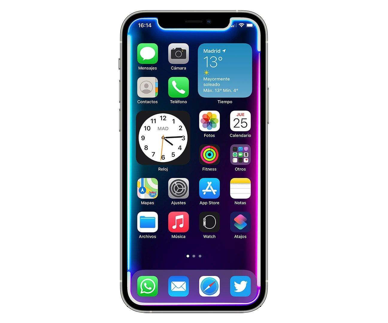 iPhone 12 Pro fondo neon