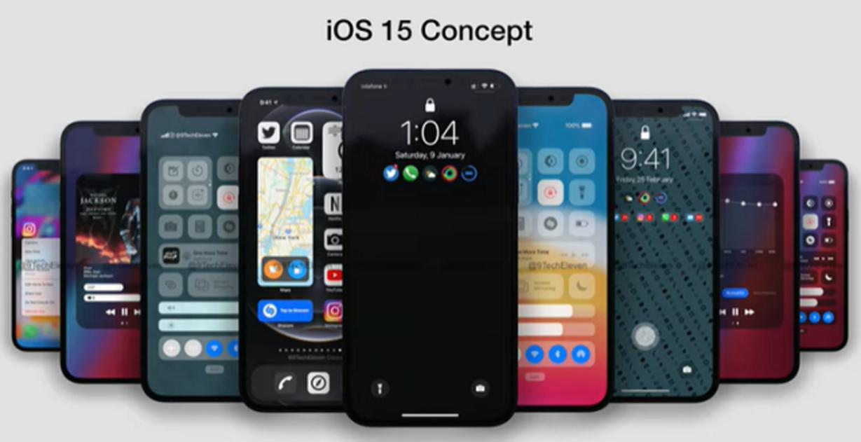 Concepto iOS 15 de 9TechEleven