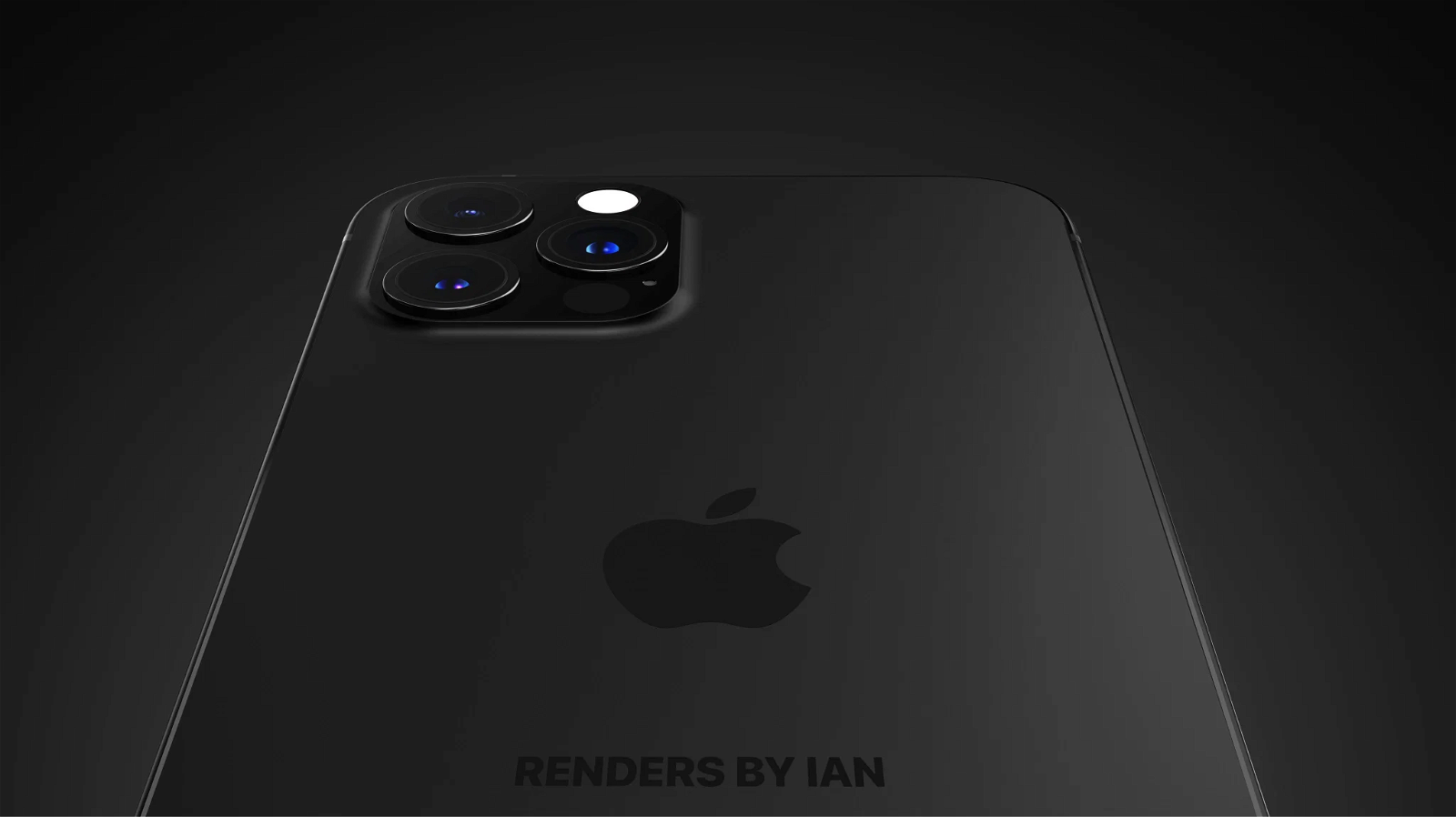 Concepto iPhone 13 negro mate