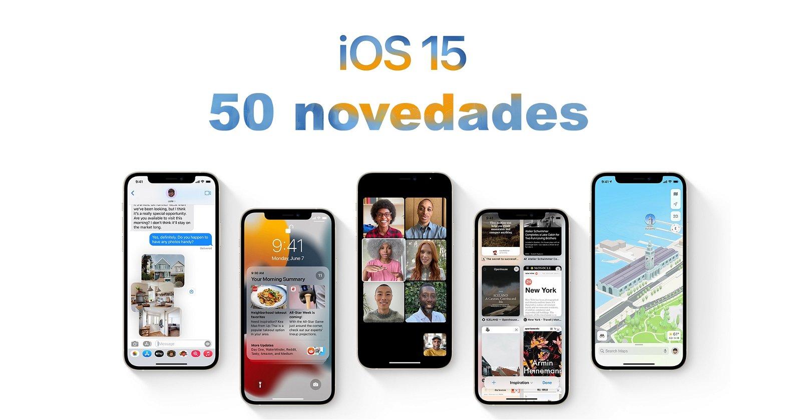 50 novedades ios 15