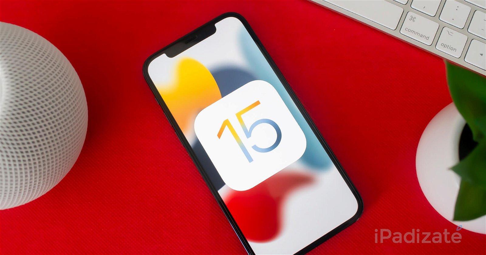 iPhone con iOS 15