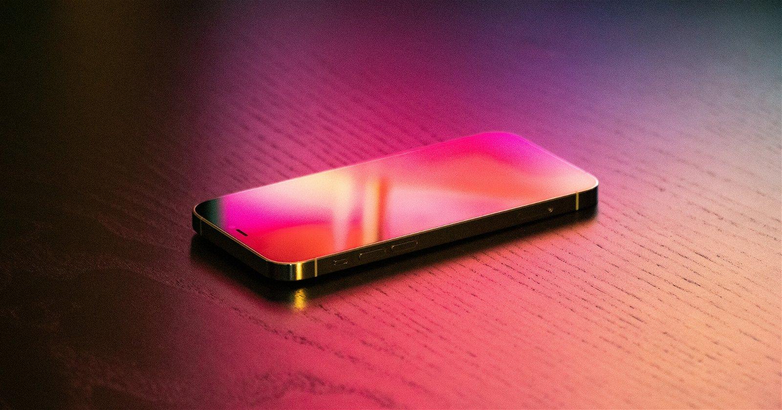 iPhone con pantalla apagada