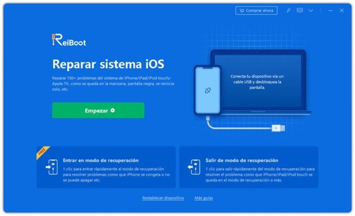 ReiBoot restauración de tu iPhone sin iTunes