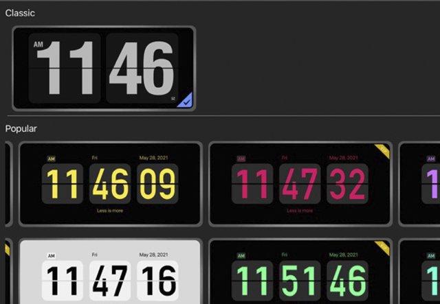 Reloj giratorio - Reloj digital-app