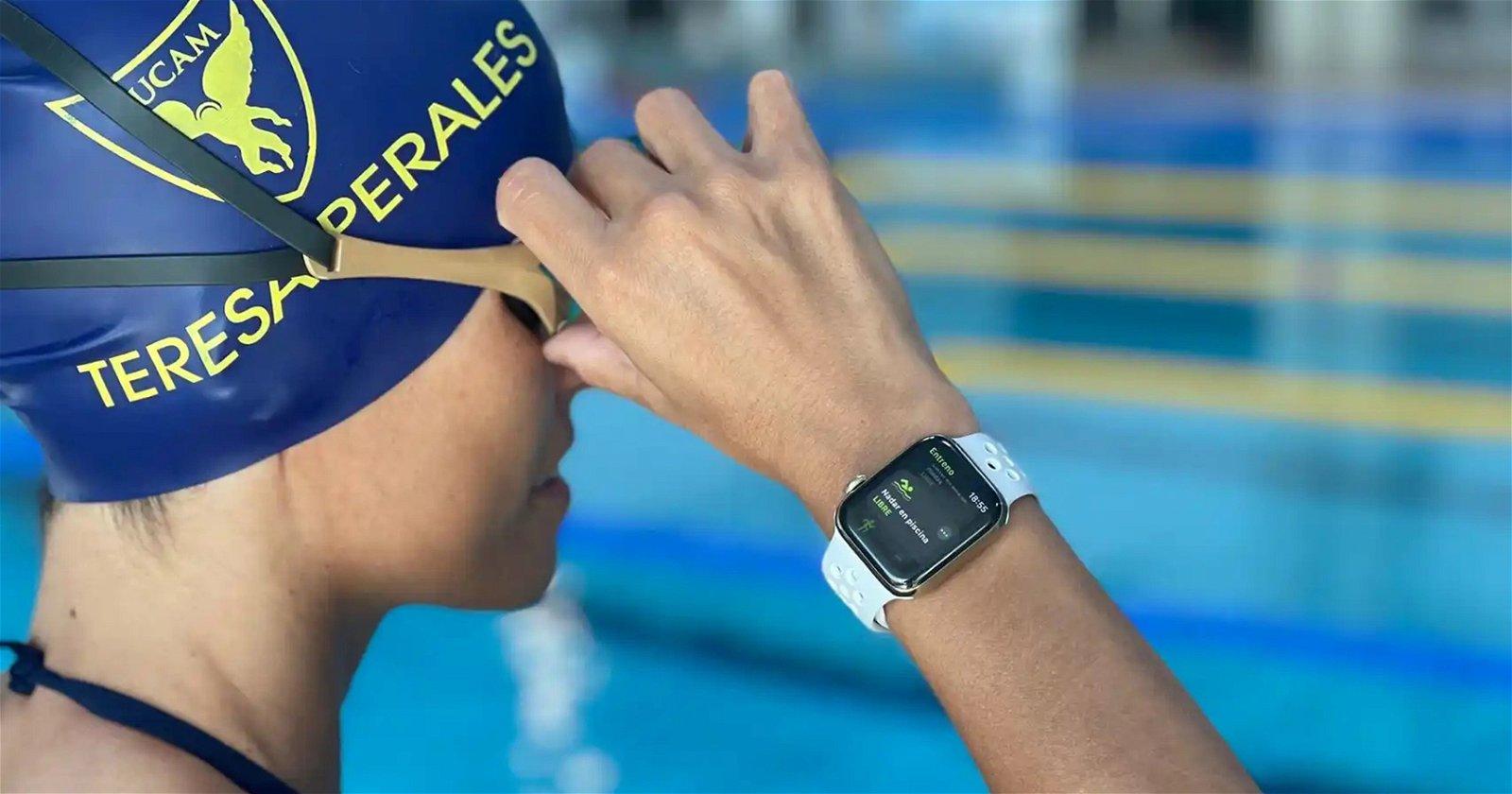 Teresa Perales y Apple Watch