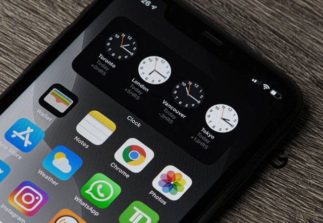 Widget reloj-app