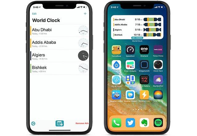 World Clock time widget-app