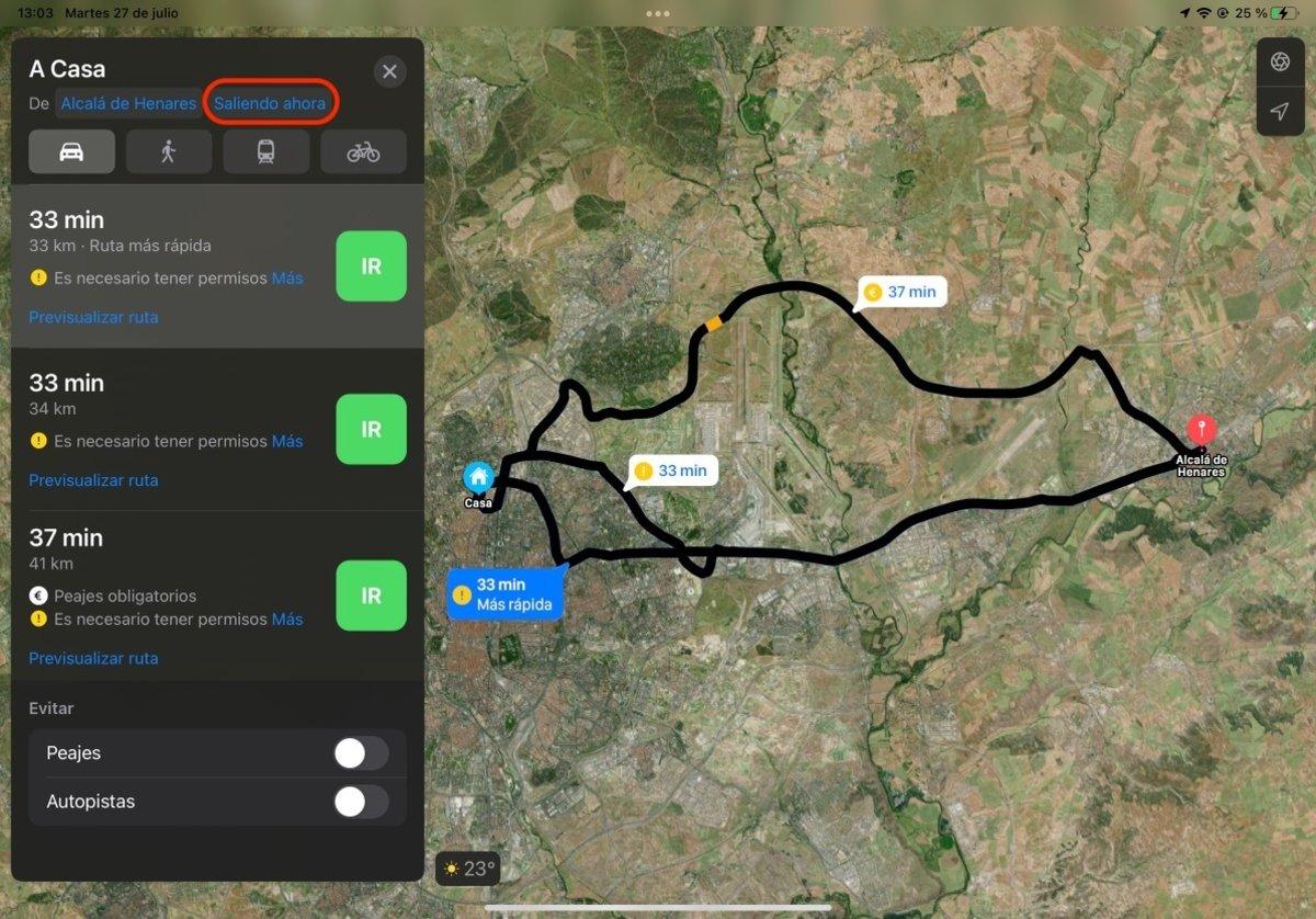 Mapa de Apple en iPadOs 15
