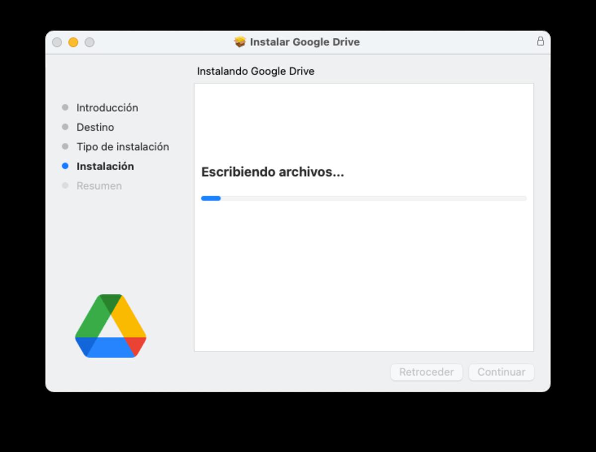 Instalar Google Drive en macOS