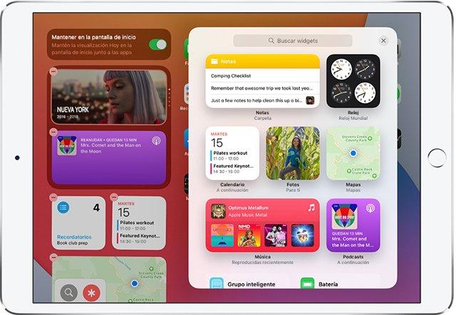 novedades destacadas de iPadOS 15-Nuevos Widgets-2