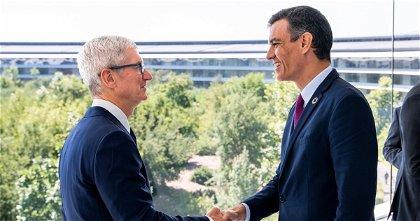 El presidente español Pedro Sánchez se reúne con Tim Cook en el Apple Park