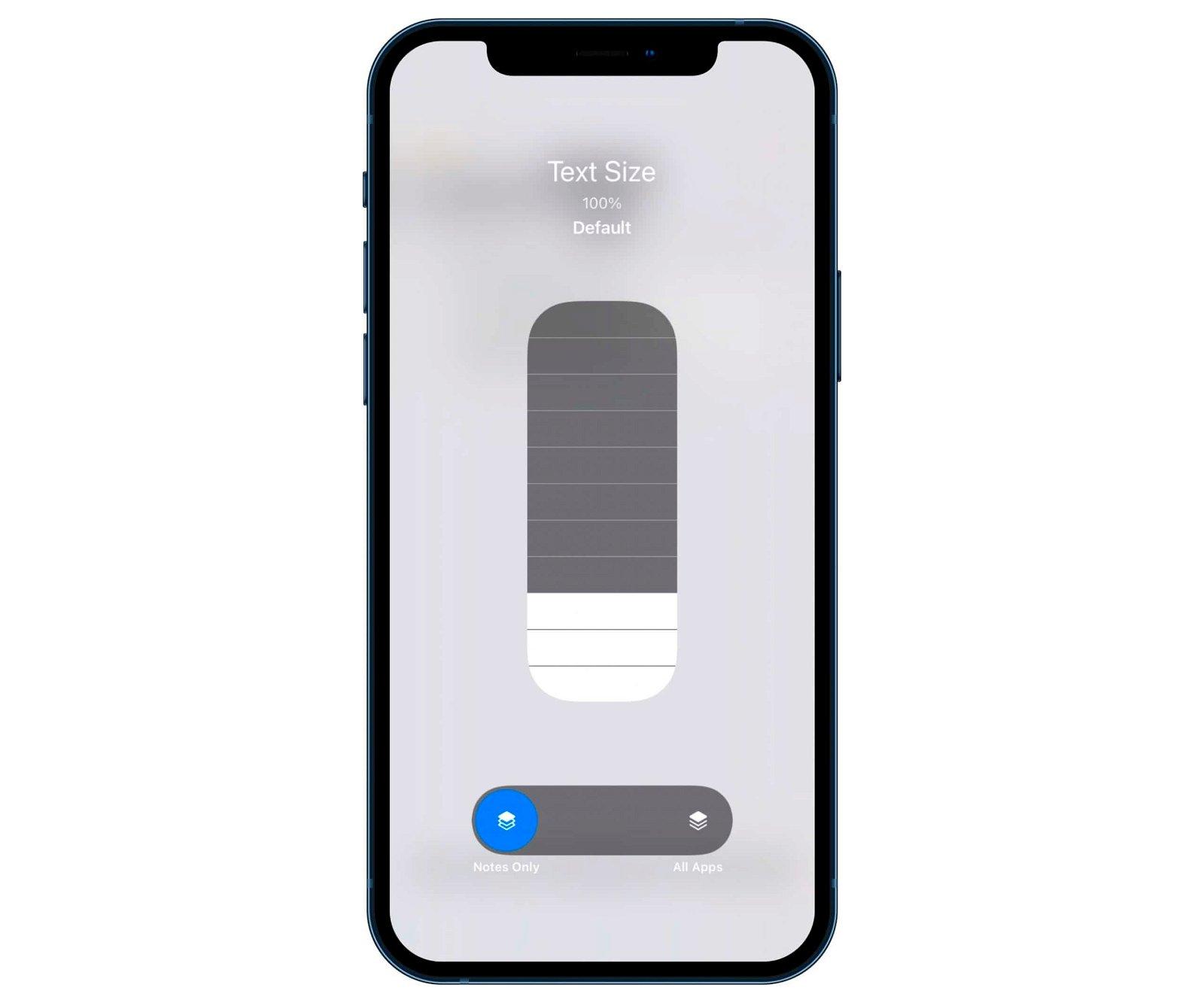 tamaño letra iOS 15