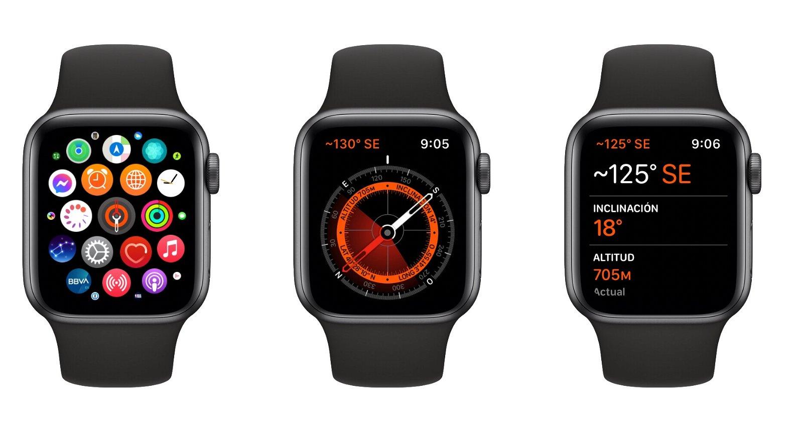Brújula Apple Watch
