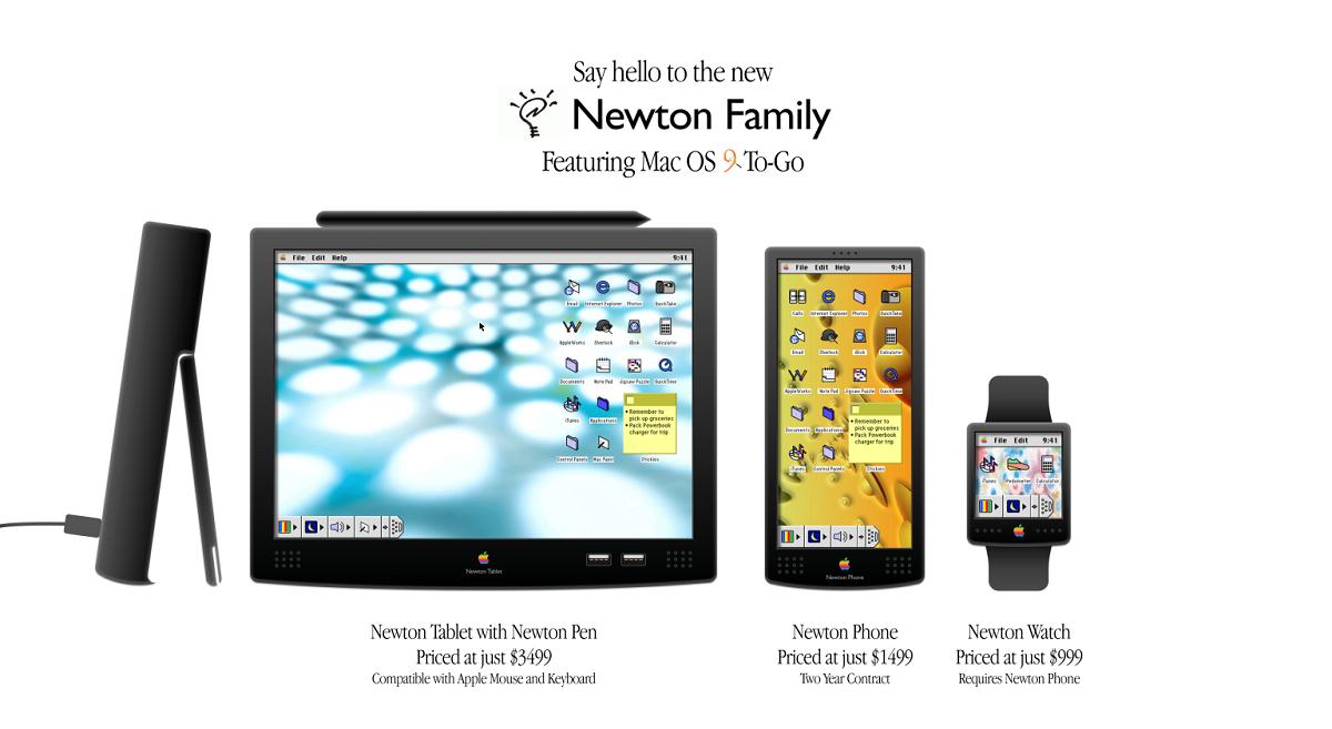 Concepto de iPhone y iPad