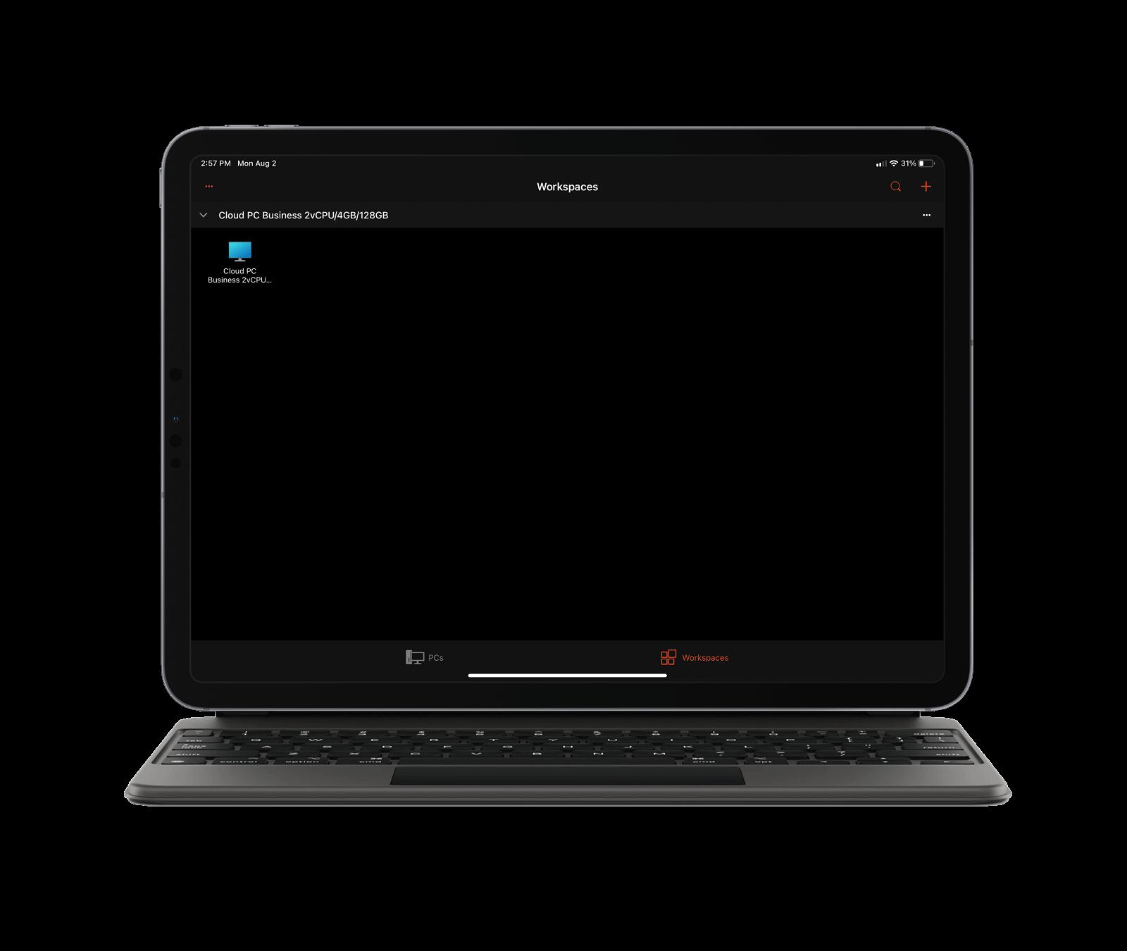 Windows 365 en el iPad: escritorio remoto de Microsoft