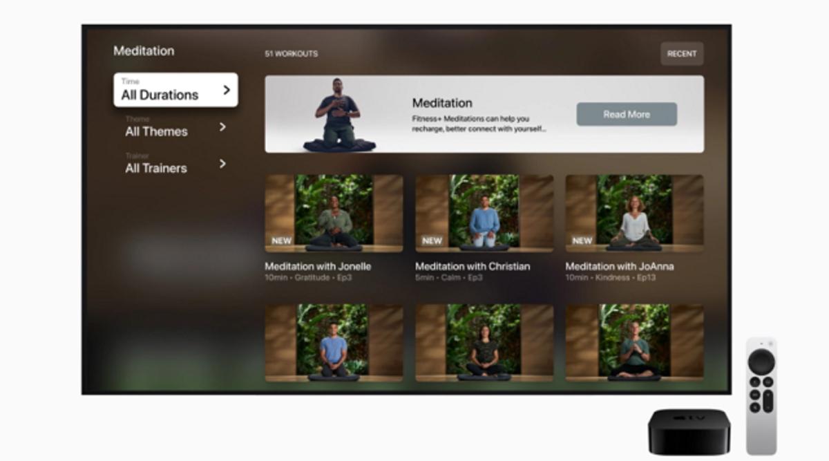 Entrenamientos de meditación en Apple Fitness+