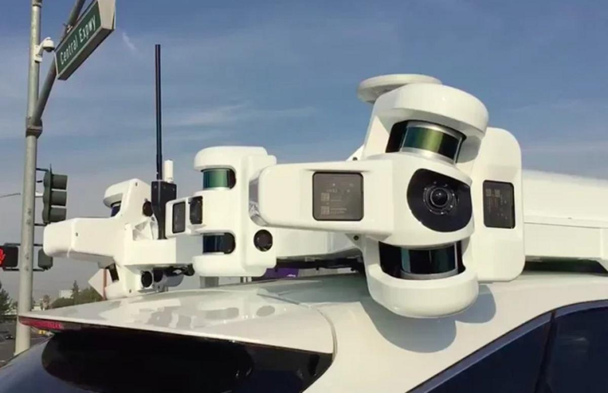 Sensores de coches autónomos de Apple