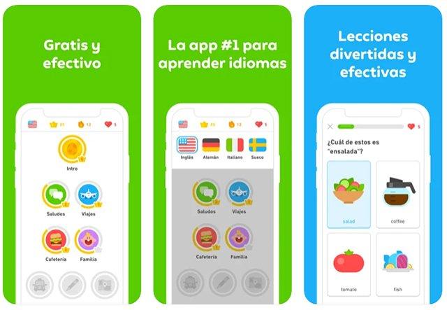 Duolingo es otra de las apps para iPhone que no necesitan conexión a Internet