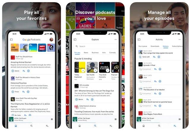 Google Podcast es una de las mejores apps para iPhone que no necesitan conexión a Internet